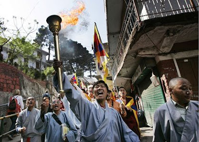 Manif tibétains aux Indes