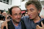 Jack Lang réconfortant Hollande