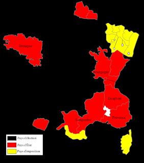 carte des Pays d'Etats