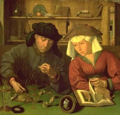 le prêteur et sa femme de Quentin Metsys