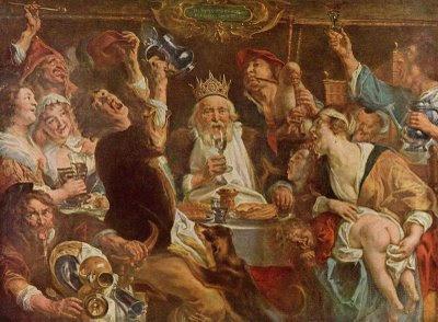 toile de maître, le roi boit