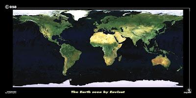 mapemonde ESA sans frontières