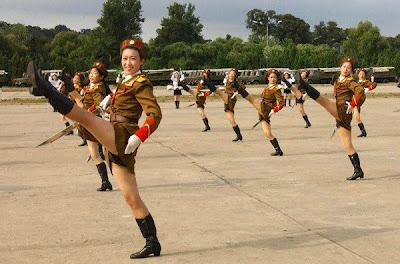 répétition de la parade coréenne