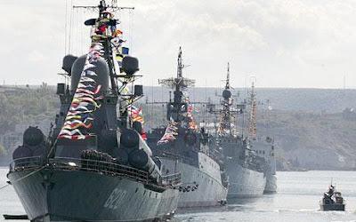 parade russe à Sebastopol