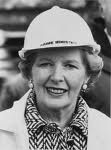 Margaret Thatcher casquée