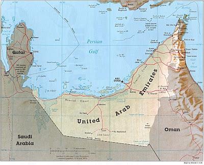 carte des Emirats