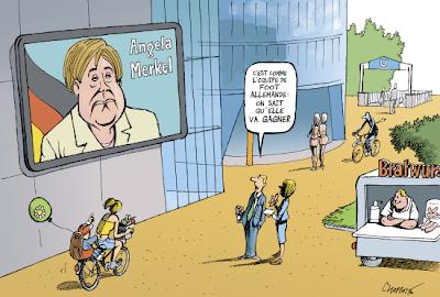 Merkel by Chappatte, ©GlobeCarton