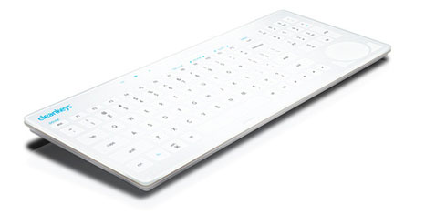 Cleankeys Touch Sensitive Keyboard: the keyboard is easy to clean