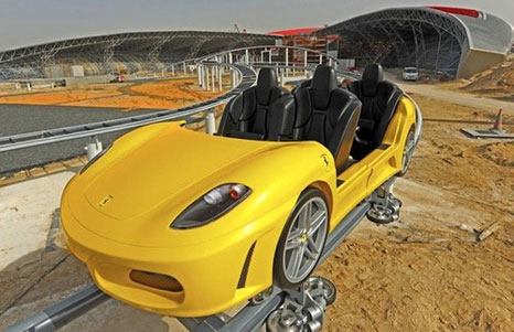 Replica Ferrari F430 in the Ferrari Theme Park, Dubai