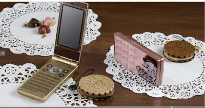 ntt sh04 b 5 DoCoMo STYLE SH 04B: phone with shapes melted chocolate