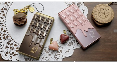 ntt sh04 b 1 DoCoMo STYLE SH 04B: phone with shapes melted chocolate