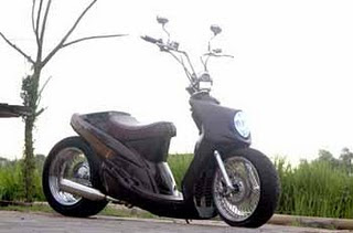YAMAHA MIO LOW RIDER MODIFIKASI