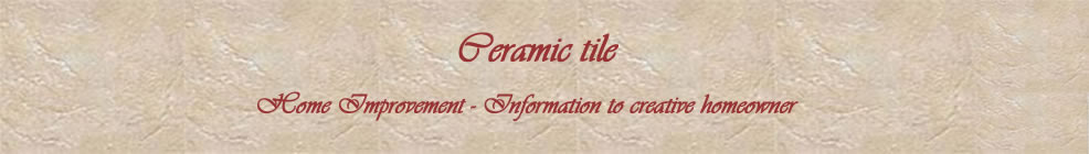 Ceramic tile - Home Improvement