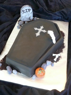 Devilish delights july 2010 for Coffin cake template