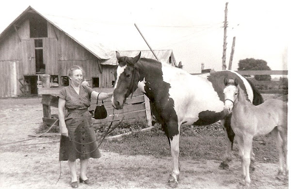 Bess with one of Guy's favorite ponies.