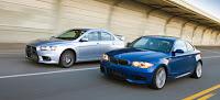 Comparison Video: 2008 BMW 135i vs Mitsubishi Lancer Evolution MR