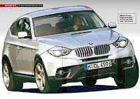 New 2010 BMW X4 Crossover Artist Rendering