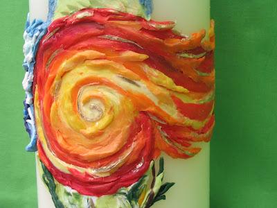 Rosis kreative werke m rz 2009 for Osterkerzen modern