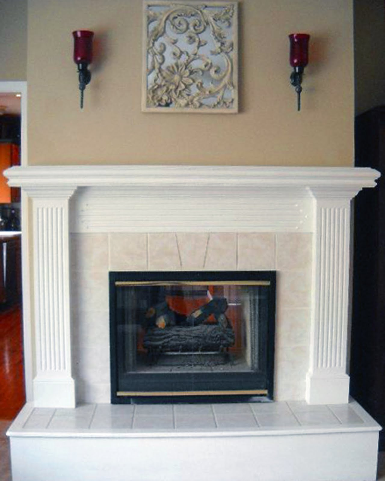 custom home for sale double sided gas fireplace