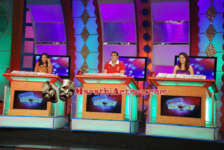 sonalee kulkarni, siddharth jadhav and sharvari jemenis on wow tv serial show