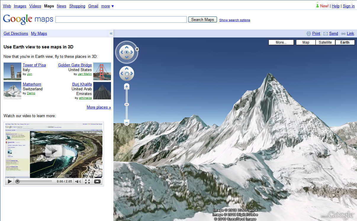 Google Maps Earth View