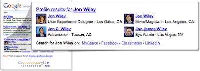 Google Profile Search Results