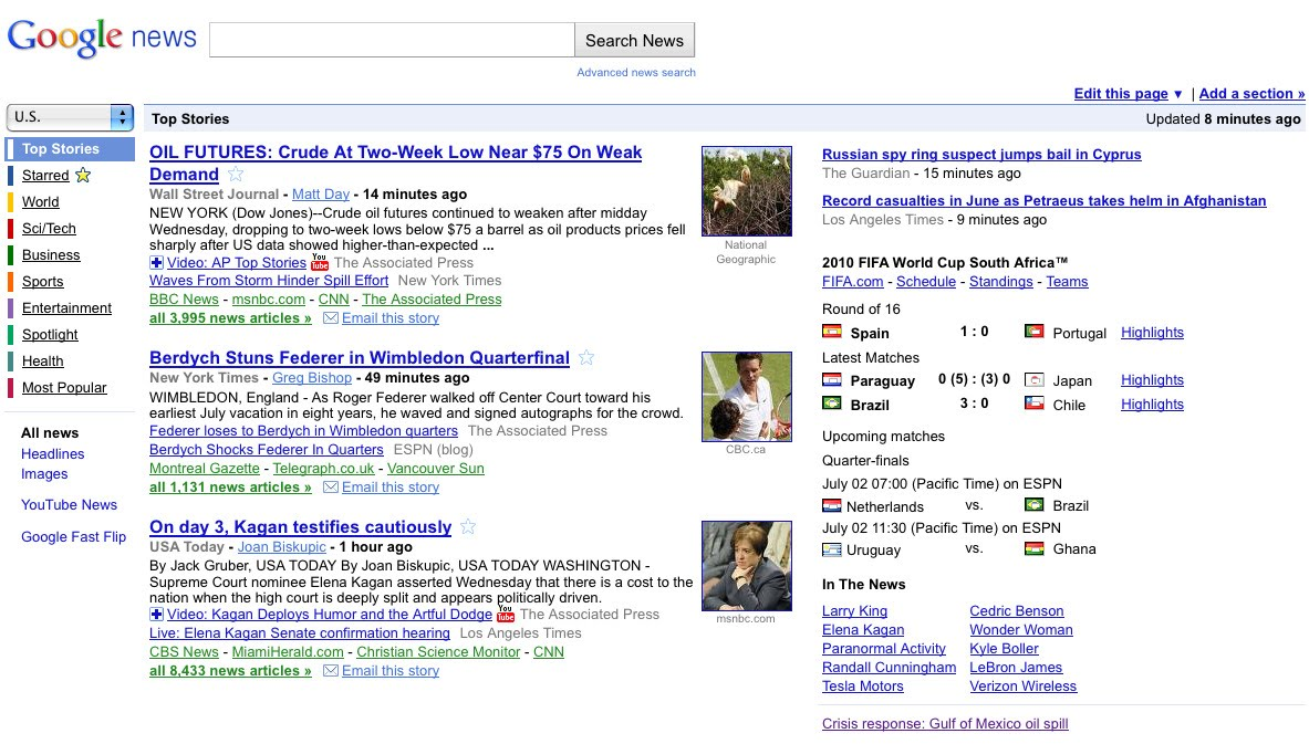 Google News before