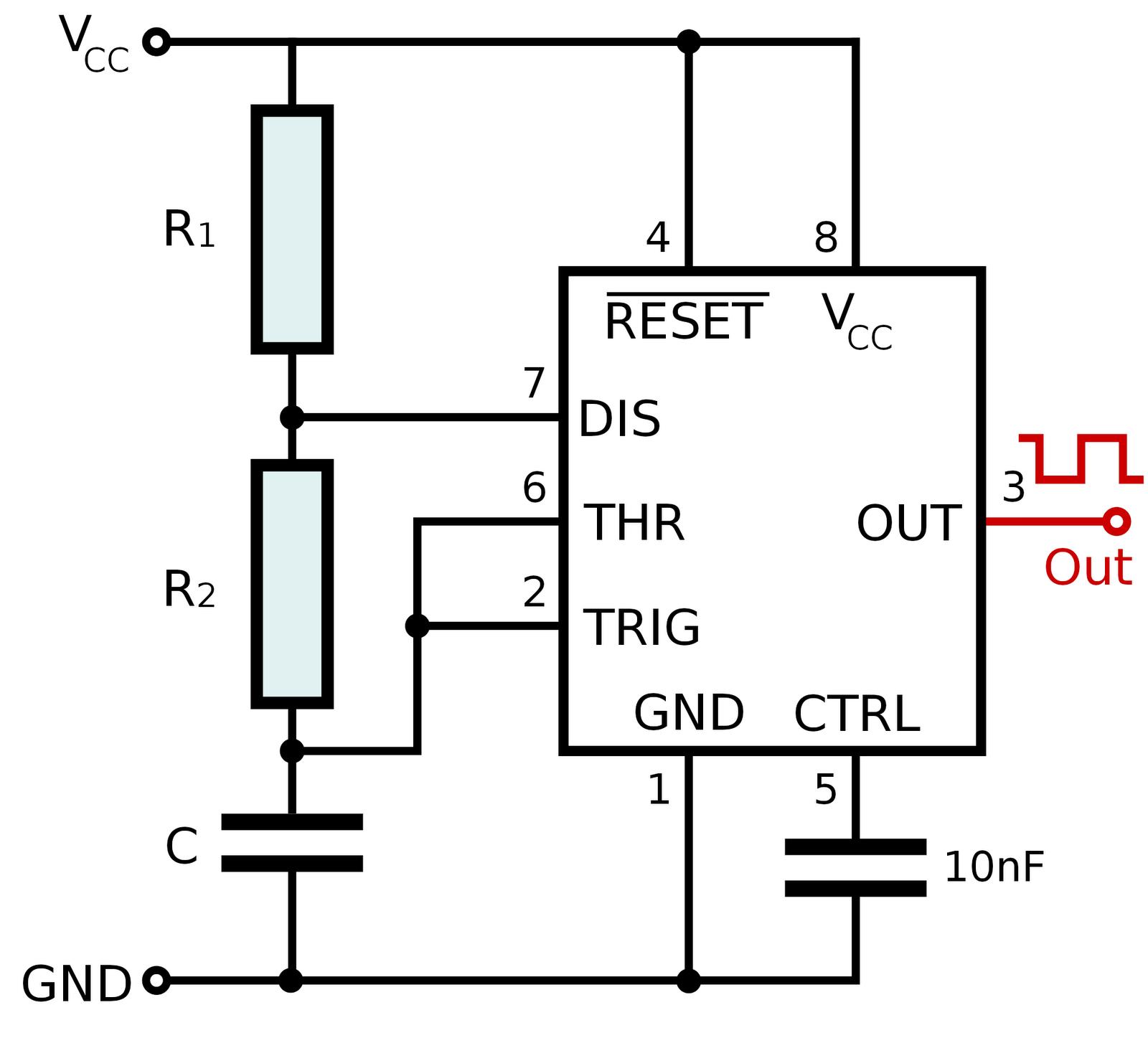 N555 Bistable Multivibrator Using Ic 555 Circuit Koleksi Skema Rangkaian Monostable Timer Laboratorio Ii Gn555