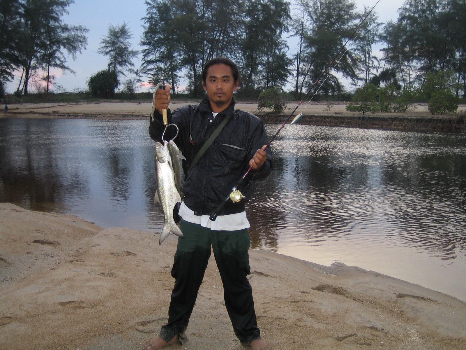 Senangin juga terdapat di sungai pnor ini. awal pagi adalah waktu