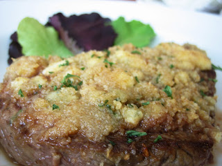 blue cheese crusted steak