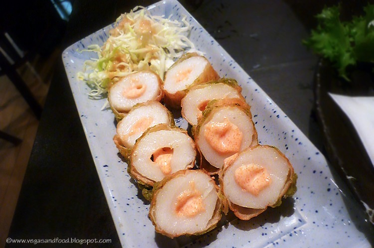 Tubular rolled fish cake $6