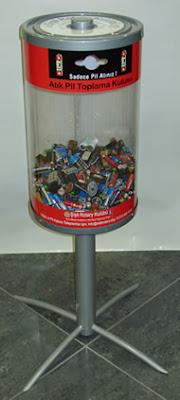 Atık pil toplama