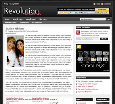 Revolution Church Blogger Template