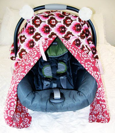 car seat canopy with peek a boo tutorial