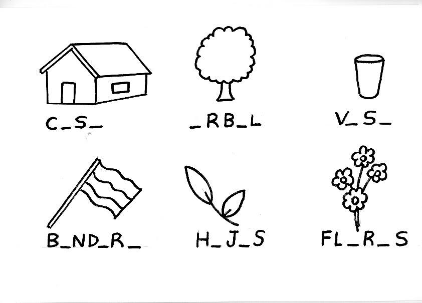 Las vocales ejercicios para completar con a e i o u for Aeiou el jardin de clarilu mp3