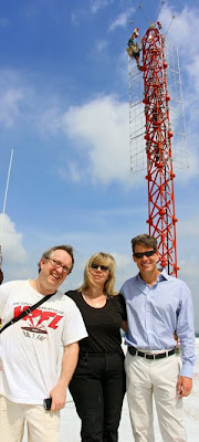 with Kakie Urch (WRFL original of originals) and Scott Ferguson (1st Gen. Mgr) in May 2010 visiting WRFL's new tower and antenna. photo ©Brian Connors-Manke