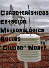 """Características Observatorio Meteorológico Bullas """"Ciudad"""" Norte"""