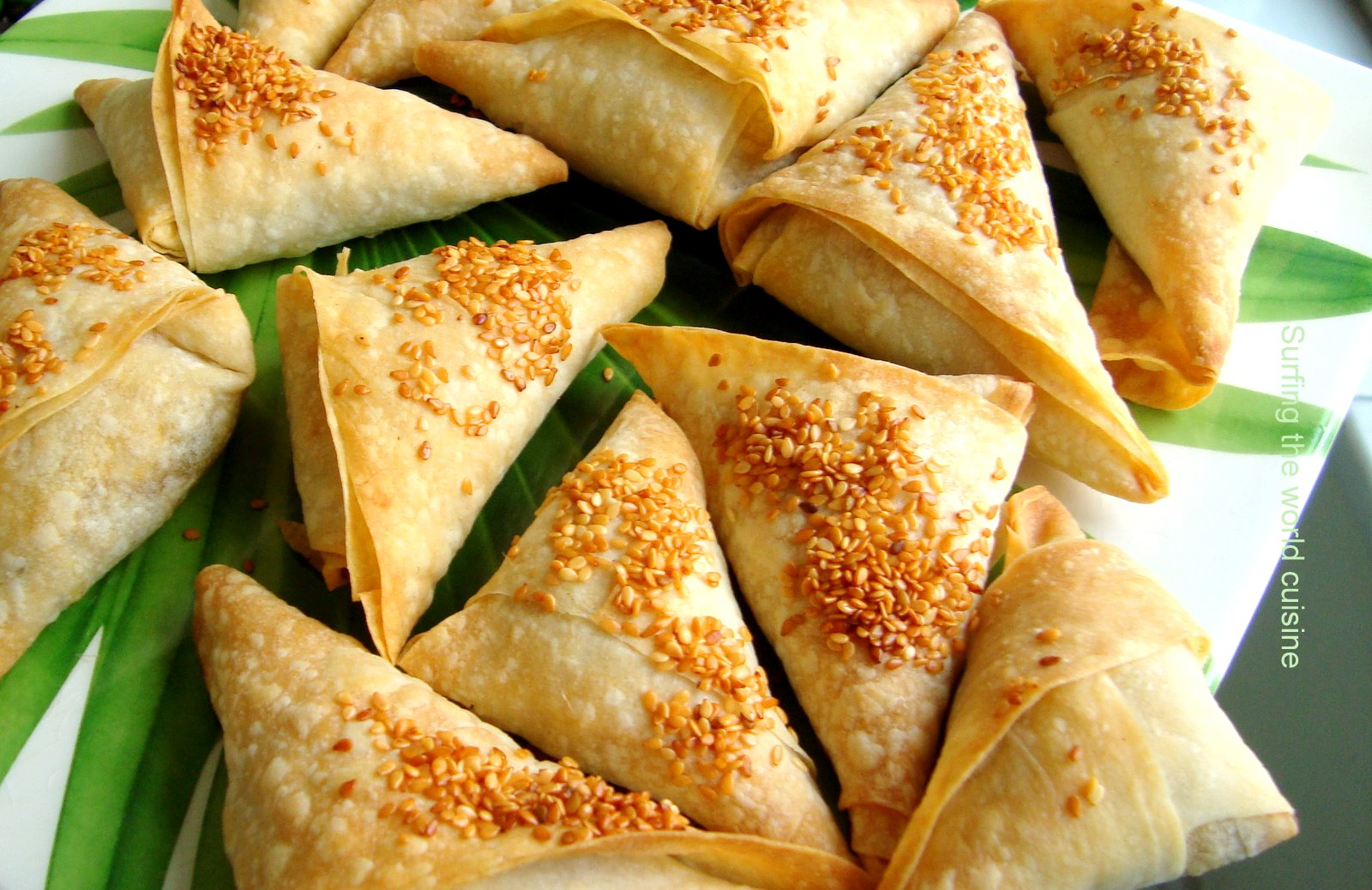 A kind of pea and potato samosas for About indian cuisine