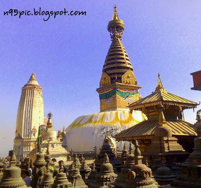 Swayambhunath temple, Buddhist Pilgrim, swyambhu in n95 pictures, Buddha in Nepal