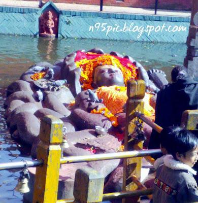 sleeping Vishnu,Budhanilkantha temple,Nepal
