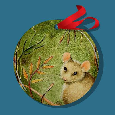 Fall Mouse Christmas Ornament