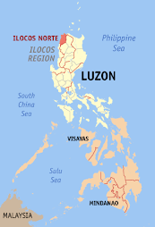 Laoag Diocese on the Philippine Map