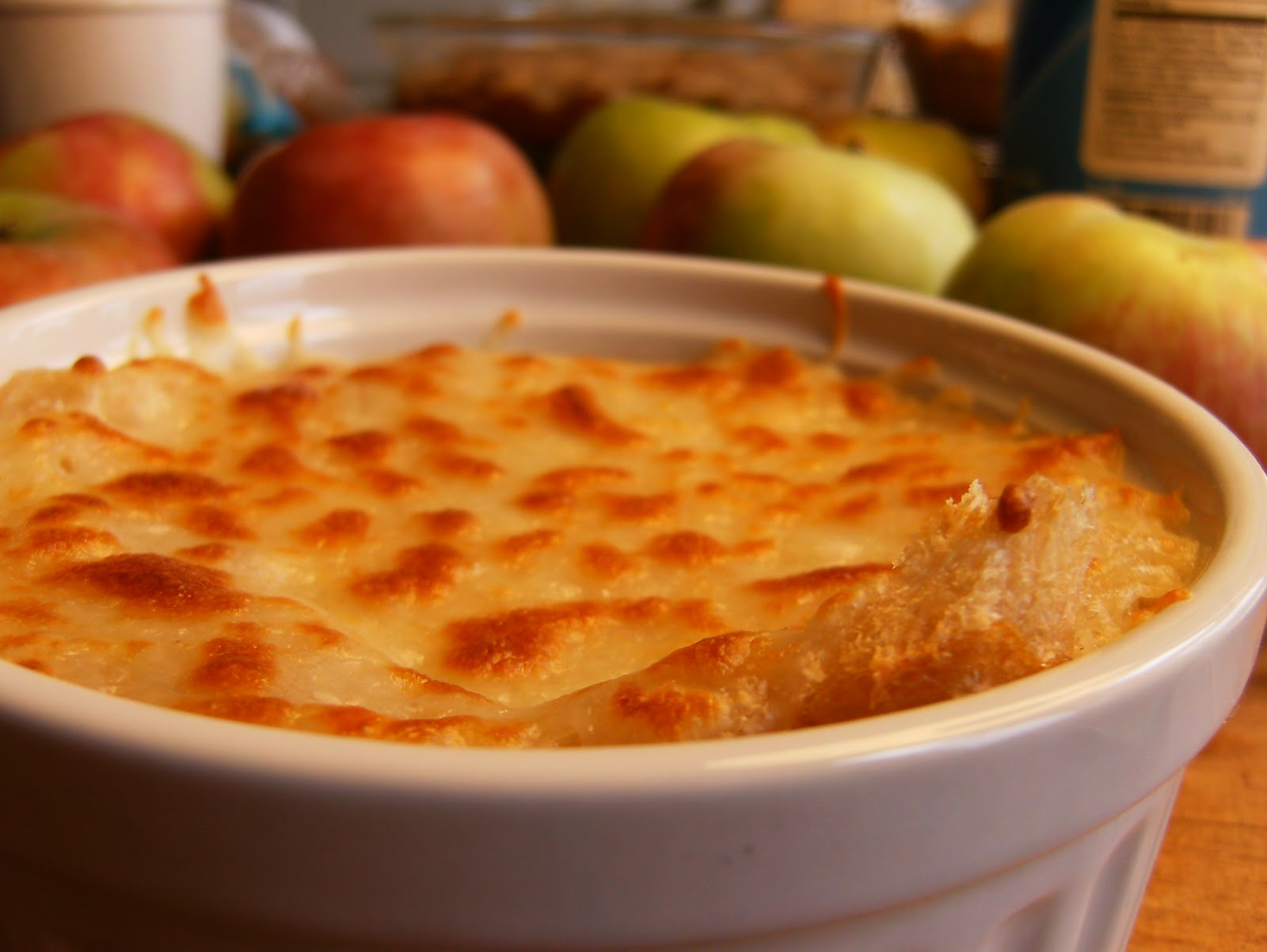 Curiously Local: Apple Week: Apple Onion Soup Gratin