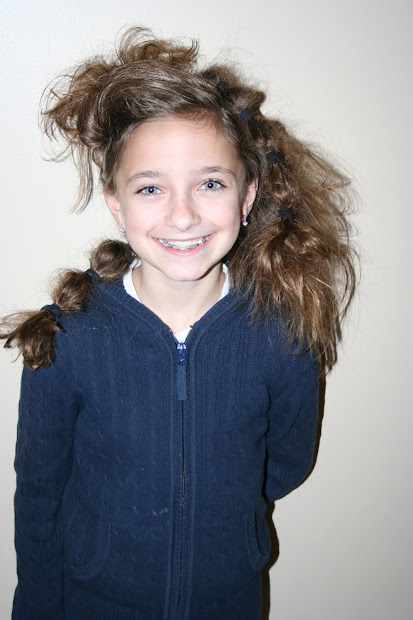 crazy hair day cute girls
