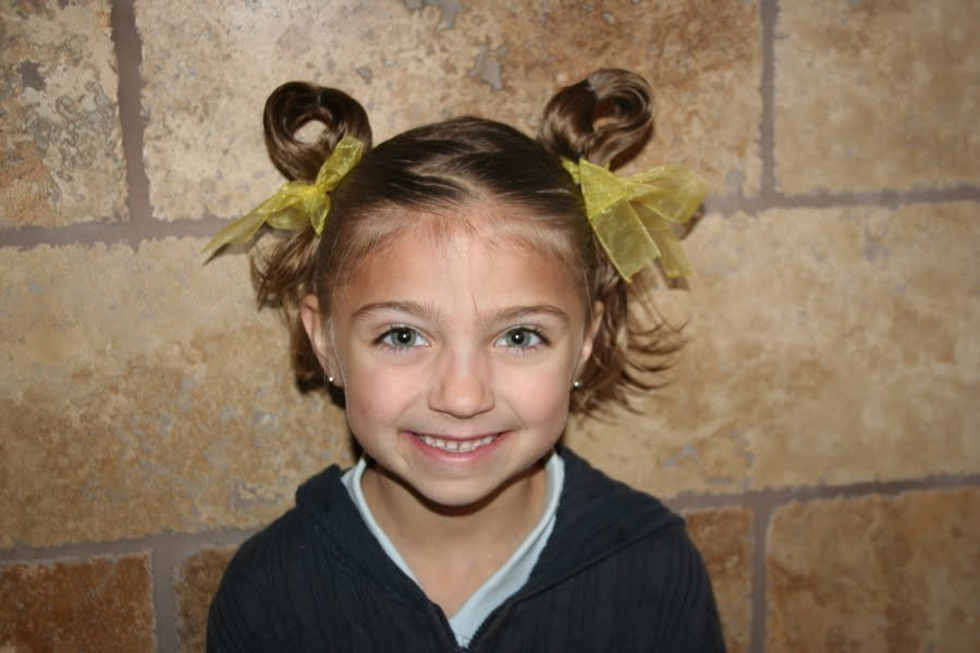 Easter Hairstyles Bunny Ear Pigtails Cute Girls Hairstyles