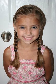"back to school hairdo french ""doubledup"" braids  cute"