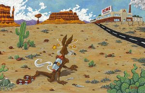 wile e coyote and roadrunner