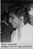 Ricardo Omar Lois Detenido Desaparecido el 7 Noviembre 1976