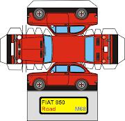 PaperCraftFIAT 850. Postado por Patrik Tocci