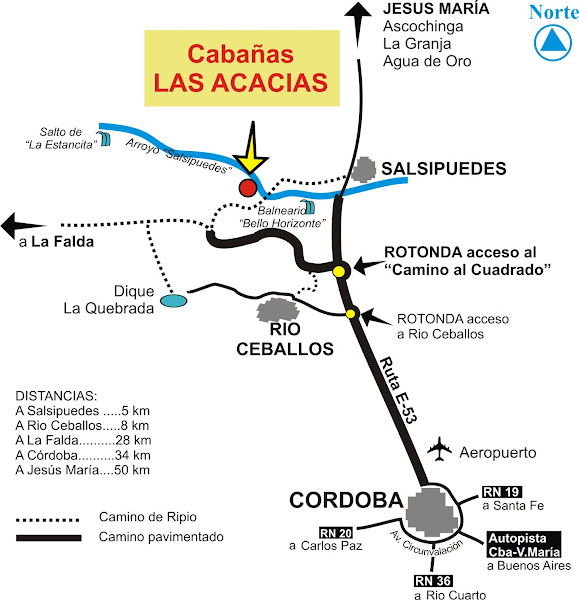 """UBICACION: """"Salsipuedes"""". Sierras de Córdoba"""